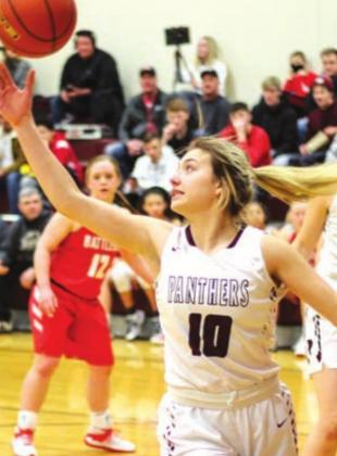 Shay Kraft led the Panthers with 18 points vs. Newell to end the regular season. File photo