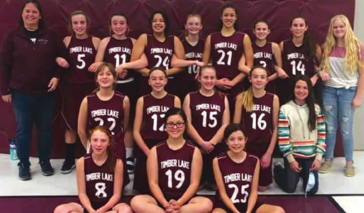 Panther JH girls place 5th at LMC tourney