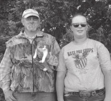 Jason and Megan Hulm raise cattle, sheep, wheat and corn west of Glad Valley. They also have a business, Crappie Creek Feeds.